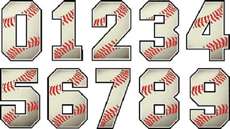 baseball pattern font baseball numbers designs