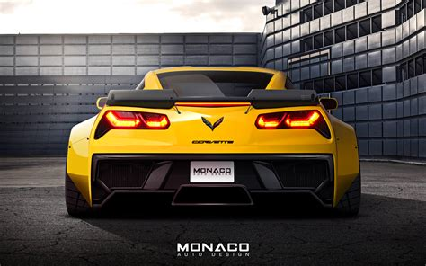 widebody corvette c7 new c7 z06 widebody kit monaco auto design