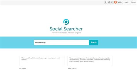 Social Media Search Engine Find Social Searcher Il Motore Di Ricerca Per I Social Tool
