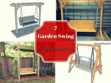 garden swing plans 7 free garden swing plans free porch swing plans how