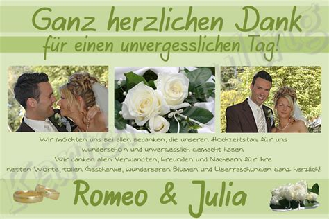 Danksagung Hochzeit by 45 Danksagung Einladung Hochzeit Pappkarte Foto