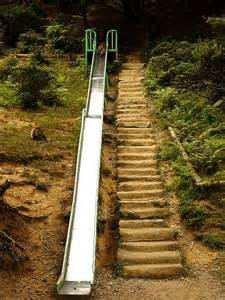 i want to do a slide the hill in our yard sadly