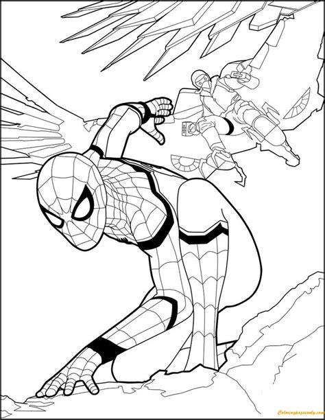 superhero spiderman homecoming coloring page