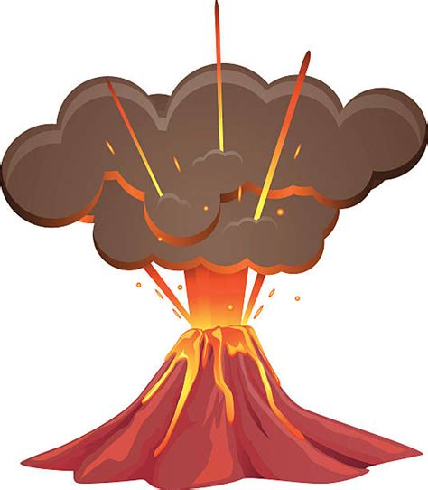 clipart volcano volcanic eruption clipart clipart station