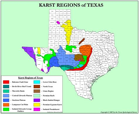 sinkholes in texas map texas karst texas speleological survey tss cave records publications nss national