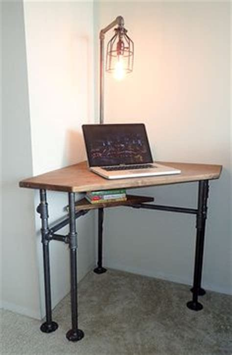 Diy Industrial Style Pub Height Corner Desk With Drafting Corner Drafting Table