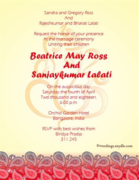 Wedding Invitation Wording Sles by Indian Wedding Invitation Wording S Marriage