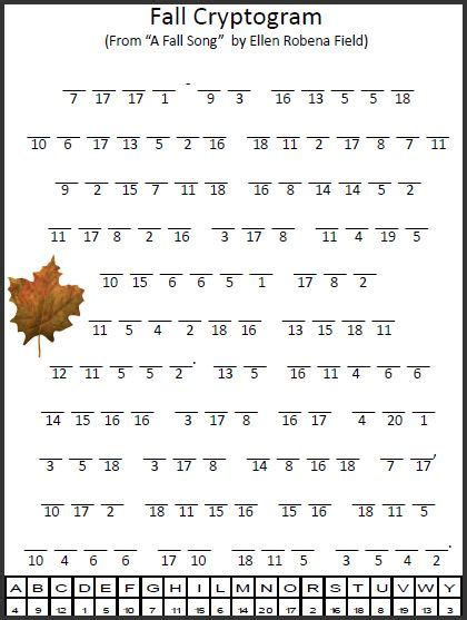printable cryptoquote puzzle empowered by them fall cryptogram