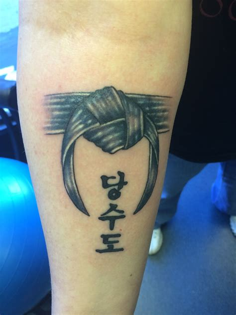 taekwondo tattoo designs my tang soo do blackbelt alter ego studio