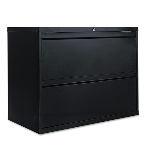 Two Drawer Lateral File Cabinet Two Drawer Lateral File Cabinet By Alera 174 Alelf3629bl Ontimesupplies