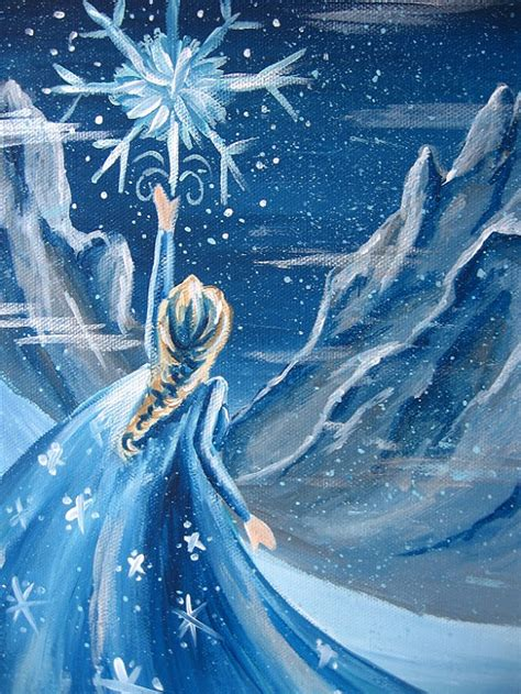 sale frozen elsa disney princess work painting on