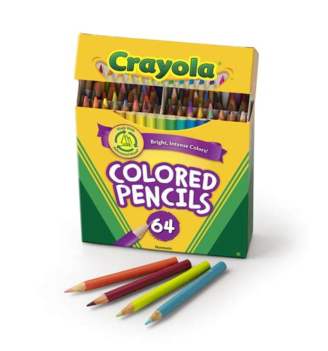 crayola 64 colored pencils the gallery for gt crayola colored pencils 64 pack