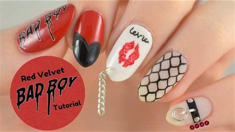 20 mini nail art tutorials youtube red velvet quot bad boy quot nail art tutorial youtube