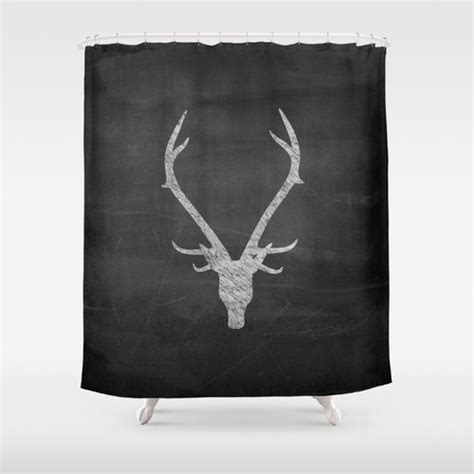 deer shower curtains and accessories shower curtain rustic home decor deer antler decor boys