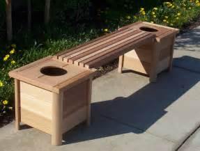 cedar planter bench plans diy free plans to build