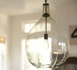 Pottery Barn Pendant Light Clift Oversized Glass Pendant