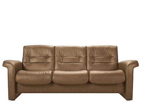 Low Back Leather Sofa Stressless Sapphire Leather Reclining Low Back Sofa Sand Raymour Flanigan