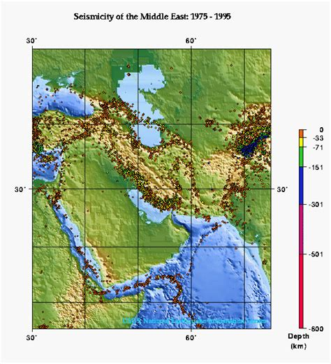 middle east map yahoo weather seismicity of the middle east usgs 1975 1995