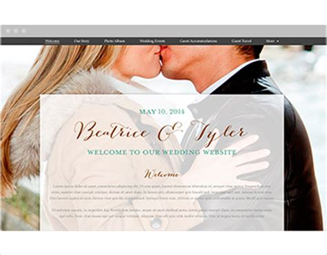 Wedding Photo Website by Wedding Websites Free Wedding Websites Weddingwire