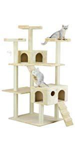 amazoncom  pet club huge  tall cat tree house