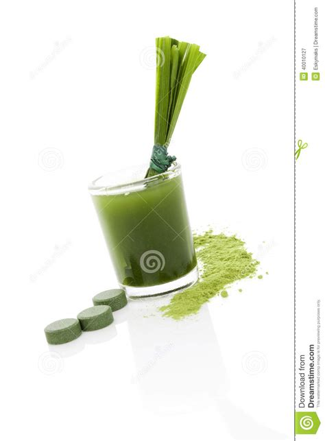 Green Food Detox by Detox Green Food Supplement Stock Photo Image 40010127