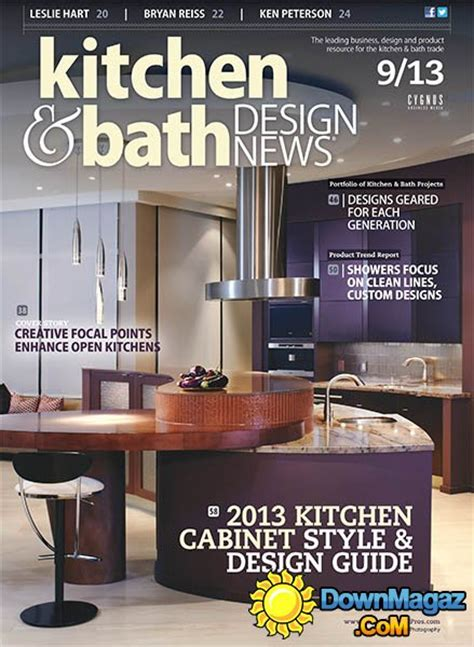 kitchen design magazines free kitchen bath design news september 2013 187 pdf magazines magazines commumity