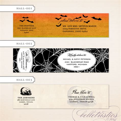 Printable Halloween Address Labels | belletristics stationery design and inspiration for the