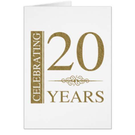 20th wedding anniversary invitation card 20th wedding anniversary cards zazzle