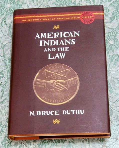 American Indians And The Law N Bruce Duthu Hc Dj Penguin