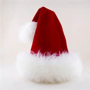 luxury santa red velvet hat reversible