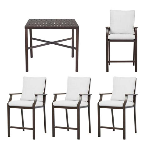 Hton Bay Millstone 5 Piece High Patio Dining Set With High Patio Dining Set