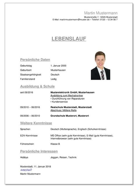 Lebenslauf Muster Bundeswehr bewerbung bundeswehr tipps f 252 r einen guten lebenslauf f 252 r