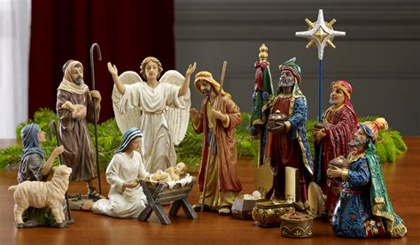where to get life nativity set three gift 7 quot real nativity 14 pc set rln030 ebay