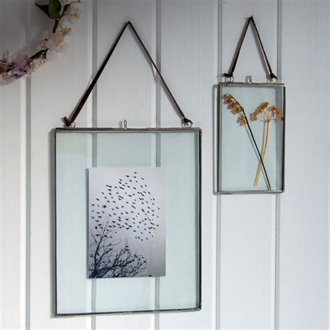 frame hanging glass hanging frame in silver 15x10cm rex london at dotcomgiftshop