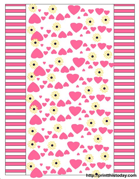 printable wrappers hearts and daisies free printable valentine candy wrappers