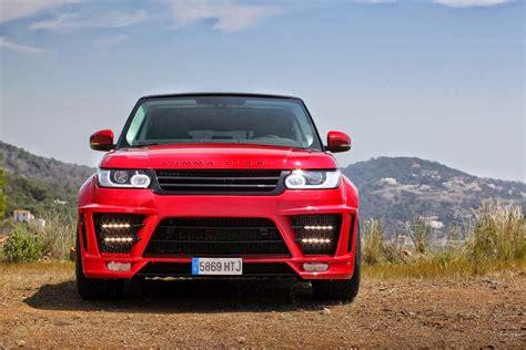 red range rover sport clr rs  lumma design supercars show