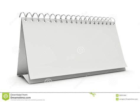 blank standing desk calenda stock images image 25631994
