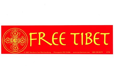 Free Bumper Stickers free tibet large bumper sticker