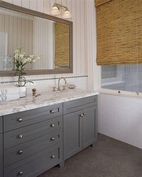 beadboard wallpaper gray cabinets home decor