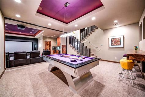 game rooms modern game room with high ceiling carpet zillow digs