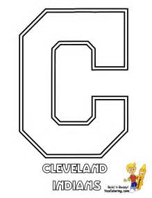 cleveland indians colors big baseball coloring sheet american league teams