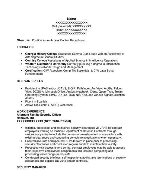 intelligence specialist resume resume ideas