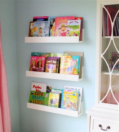 Diy White Minimalist Wall Mounted Book Shelves For Little Diy Wall Mounted Bookshelves