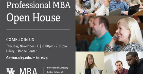 Gatton Mba by Gatton S Professional Mba Open House Is On Nov 17 Uknow