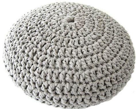 t shirt yarn cushion pattern t shirt yarn crochet poof free pattern home diy