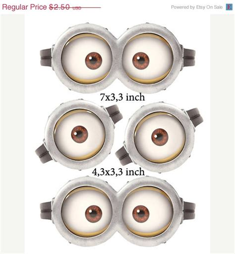 8 best images of free printable minion eyes minion eyes