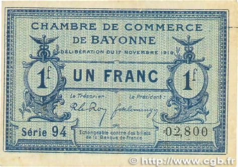 chambre commerce bayonne 1 franc regionalism and various bayonne 1919 jp 021