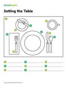 how to set the table for how to set the table prepositions of place sprout