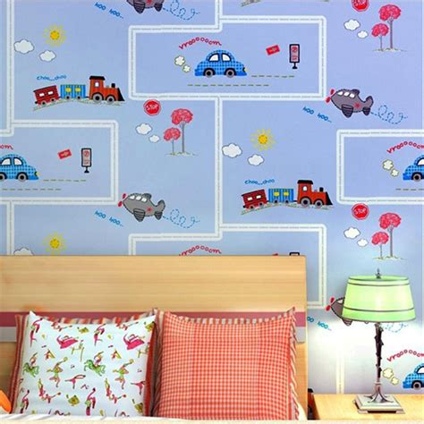 kids room wallpapers aliexpress com buy beibehang friendly lovely cartoon