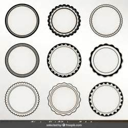 circle label template monochrome circular labels vector free